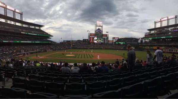 Coors Field, section: 123, row: 23, seat: 11