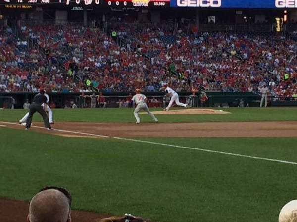 Nationals Park, section: 135, row: D, seat: 9