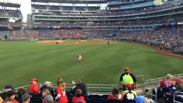 Nationals Park, section: 103, row: J, seat: 5
