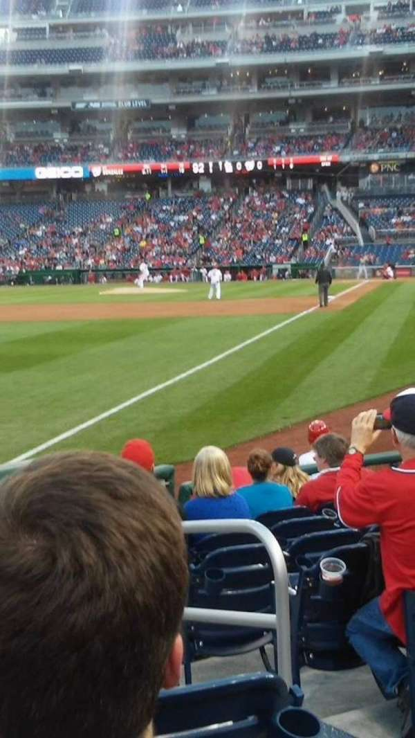 Nationals Park, section: 108, row: K, seat: 3
