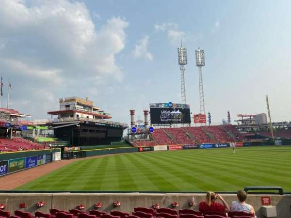 Great American Ball Park, section: 109, row: U, seat: 1,2