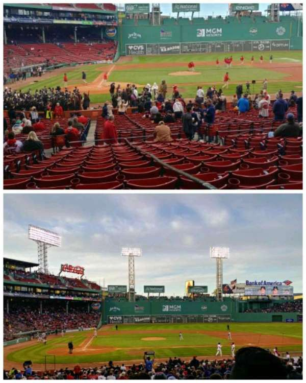 Fenway Park, section: Loge Box 123, row: NN, seat: 1