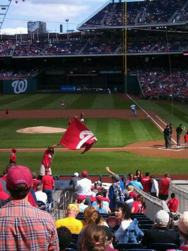 Nationals Park, section: 118, row: EE, seat: 6