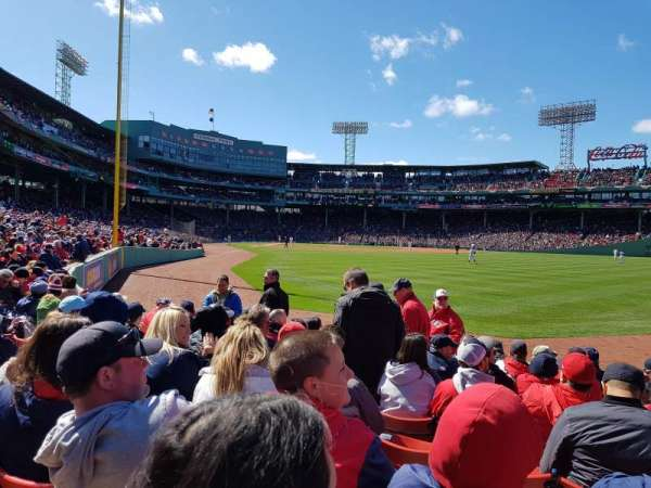 Fenway Park, section: Right Field Box 2, row: K, seat: 6