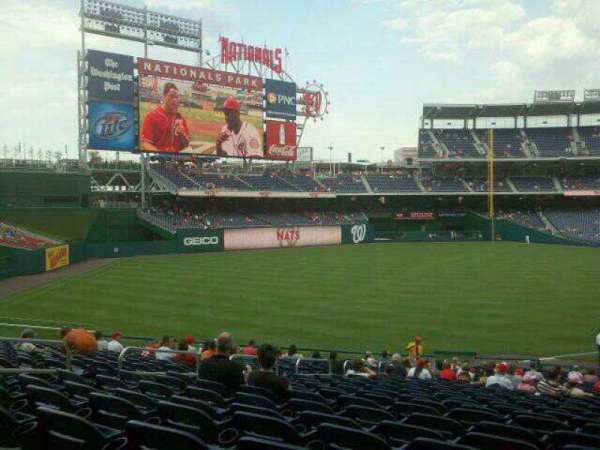 Nationals Park, section: 109, row: MM, seat: 14