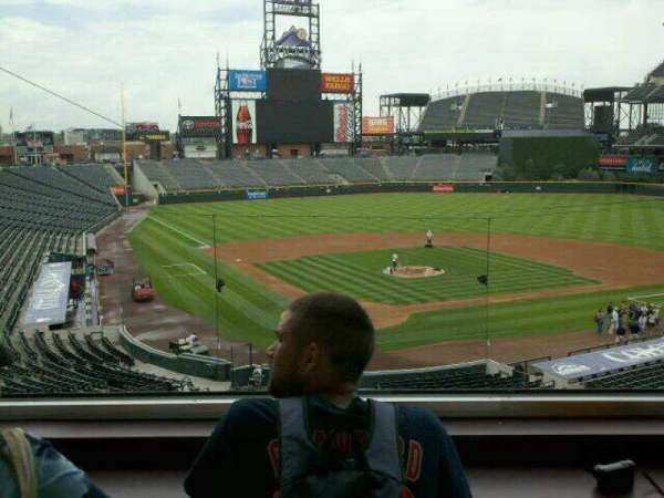 Coors Field, section: Press Box, row: 2, seat: 2