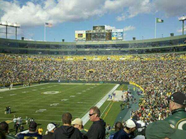 Lambeau Field, section: 133, row: 35, seat: 20
