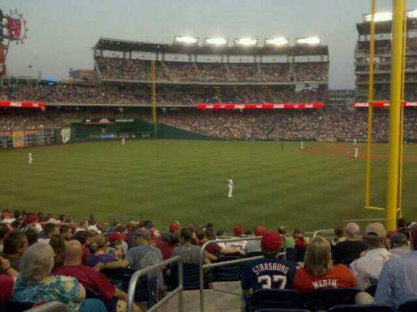Nationals Park, section: 107, row: LL, seat: 22