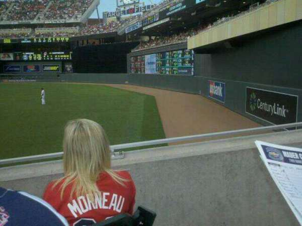 Target Field, section: 101, row: 14, seat: 14