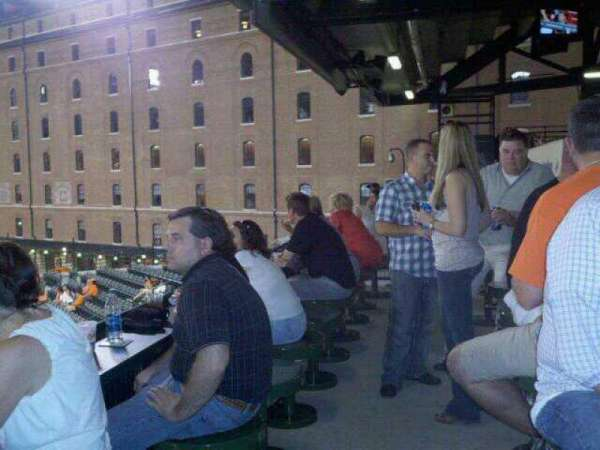 Oriole Park at Camden Yards, section: Miller Lite Flite Deck