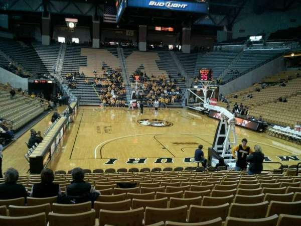 Mizzou Arena, section: 110, row: 15, seat: 13