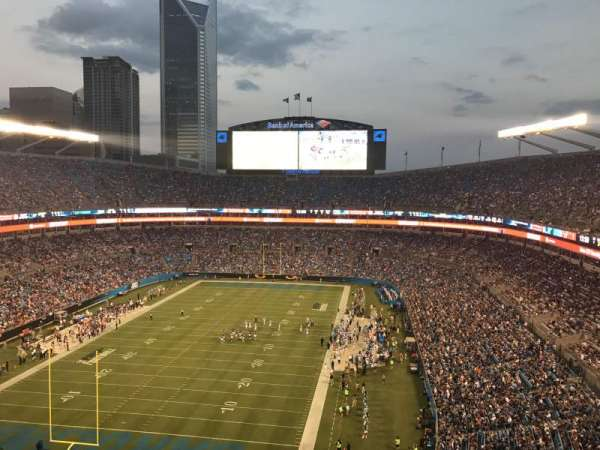 Bank of America Stadium, section: 553, row: 12, seat: 2