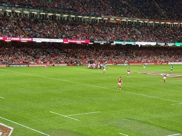 Principality Stadium, section: M13, row: 1, seat: 1