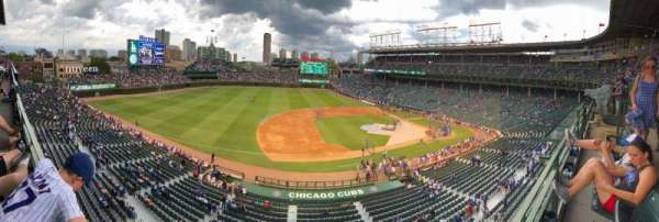 Wrigley Field, section: 411, row: 1, seat: 9