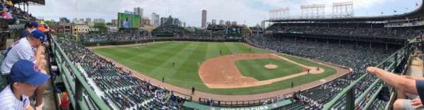 Wrigley Field, section: 411, row: 1, seat: 7