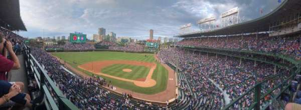 Wrigley Field, section: 314L, row: 1, seat: 5