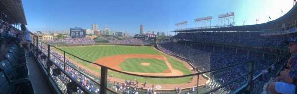 Wrigley Field, section: 312L, row: 1, seat: 8