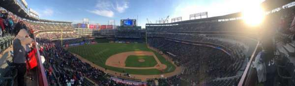 Globe Life Park in Arlington, section: 320, row: 1, seat: 14