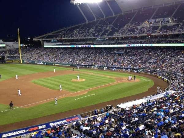 Kauffman Stadium, section: 303, row: 1, seat: 18