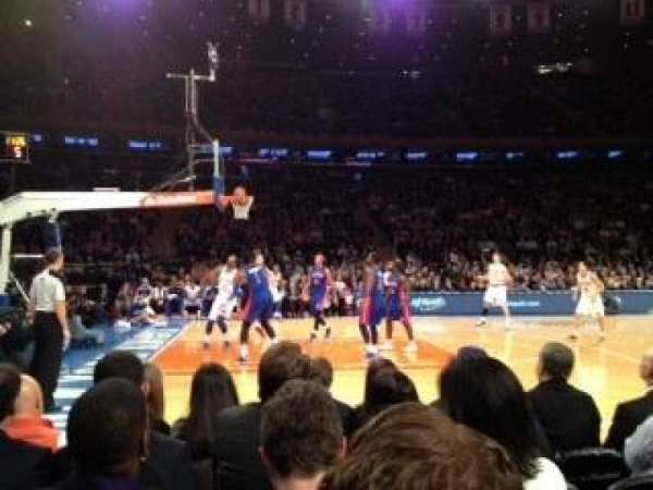 Madison Square Garden, section: 10, row: 3
