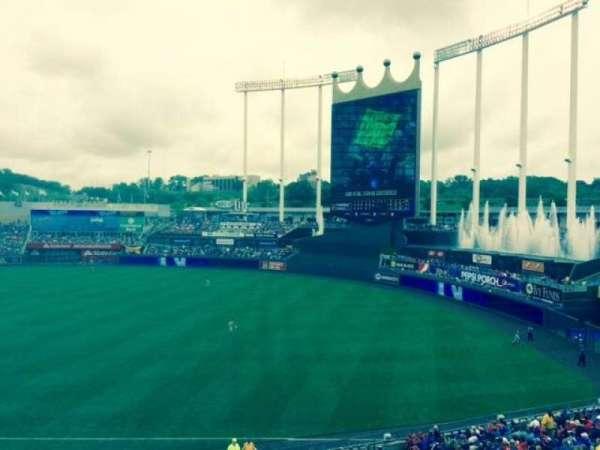 Kauffman Stadium, section: 323, row: A, seat: 1