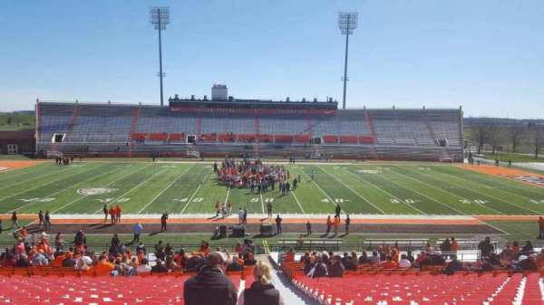 Doyt Perry Stadium, section: 15, row: 38, seat: 1