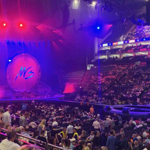 The O2 Arena, section: 102, row: L, seat: 85