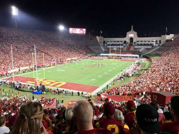 Los Angeles Memorial Coliseum, section: 12L, row: 57, seat: 12