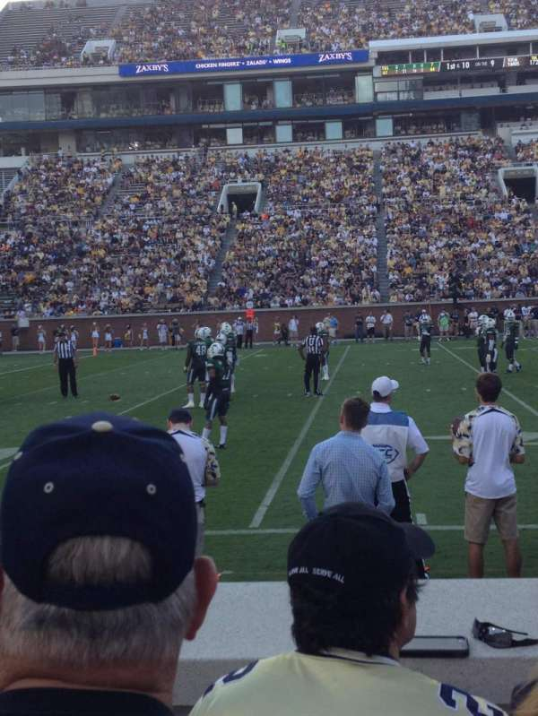 Bobby Dodd Stadium, section: 128, row: 4, seat: 18