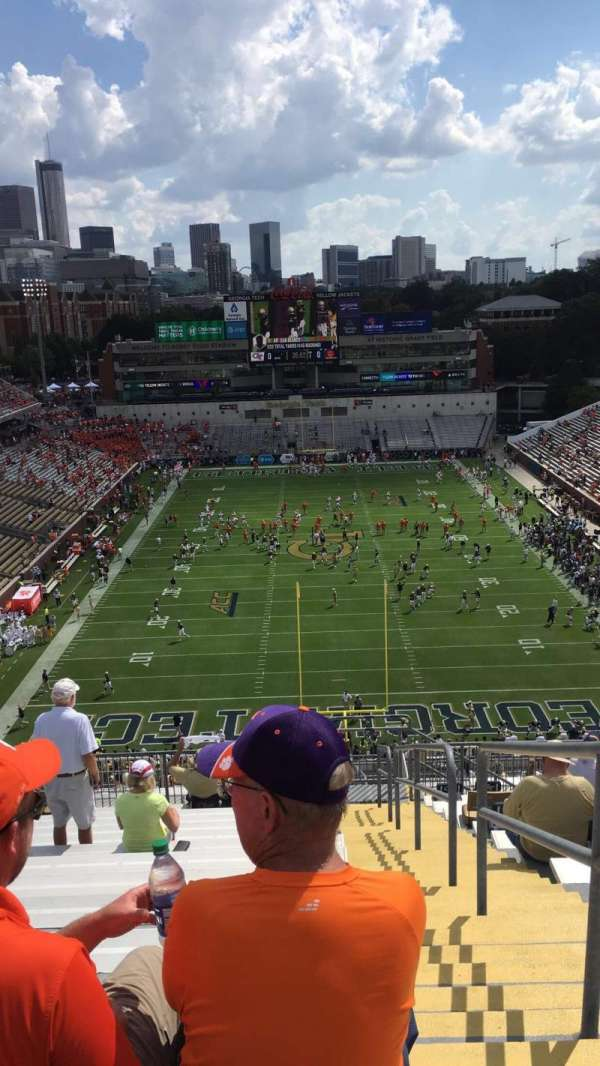 Bobby Dodd Stadium, section: 216, row: 22, seat: 27
