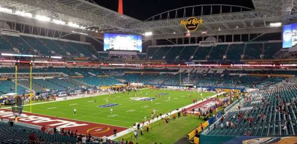 Hard Rock Stadium, section: 227, row: 6