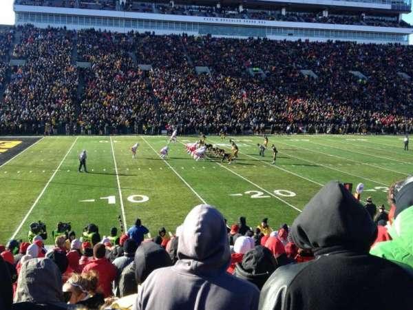 Kinnick Stadium, section: 108, row: 18, seat: 21