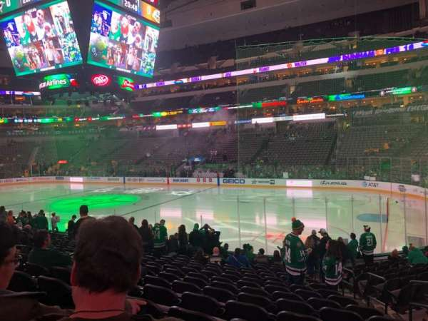 American Airlines Center, section: 104, row: R, seat: 3