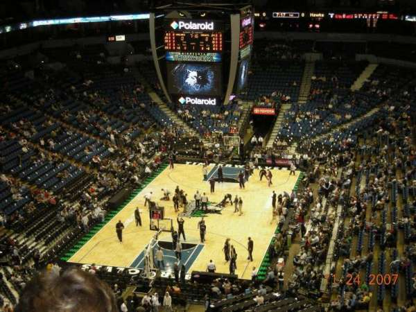 Target Center, section: 239, row: K, seat: 6