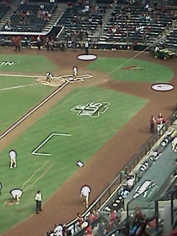 Chase Field, section: 214, row: 1, seat: 6