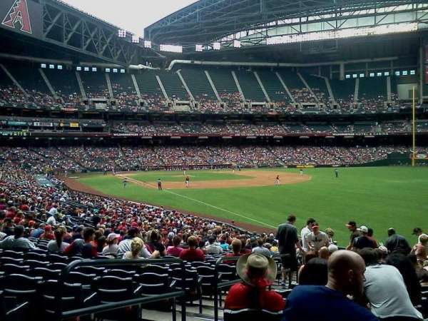 Chase Field, section: 108, row: 34, seat: 17