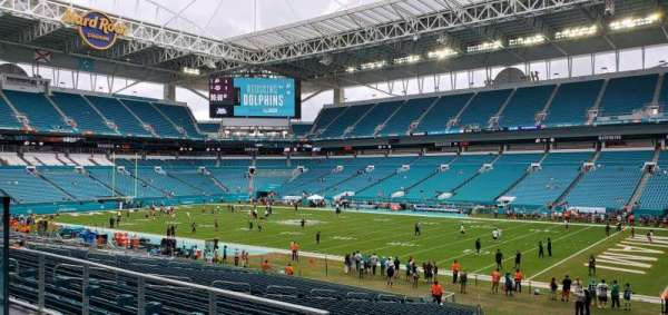 Hard Rock Stadium, section: 116, row: 36, seat: 4