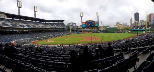 PNC Park, section: 110, row: AA, seat: 5