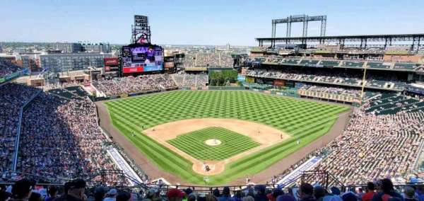 Coors Field, section: U330, row: 20, seat: 11
