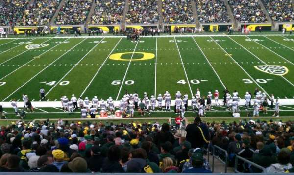 Autzen Stadium, section: 31, row: 50, seat: 12