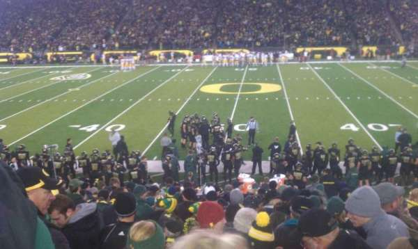 Autzen Stadium, section: 11, row: 22, seat: 11