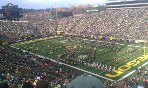 Autzen Stadium, section: 26, row: 74, seat: 19