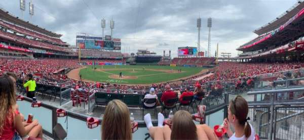 Great American Ball Park, section: 124, row: B, seat: 3