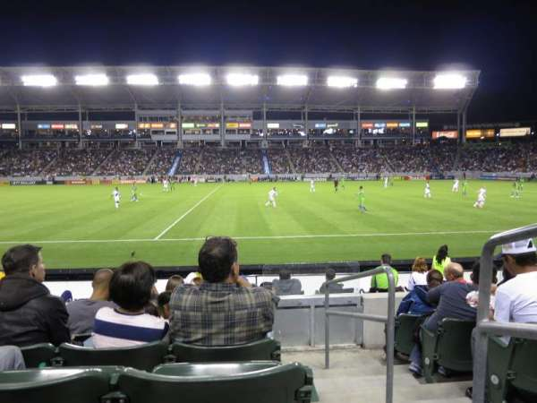 Dignity Health Sports Park, section: 132, row: F, seat: 1