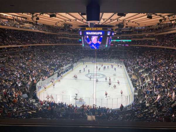 Madison Square Garden, section: 218, row: 4, seat: 5