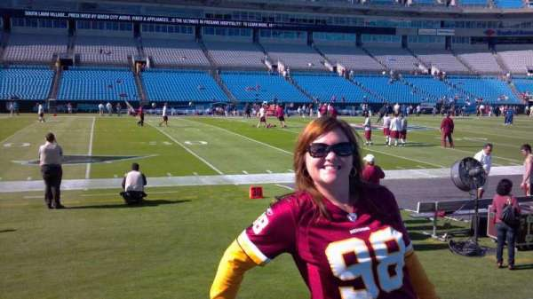 Bank of America Stadium, section: 113, row: 1A, seat: 22