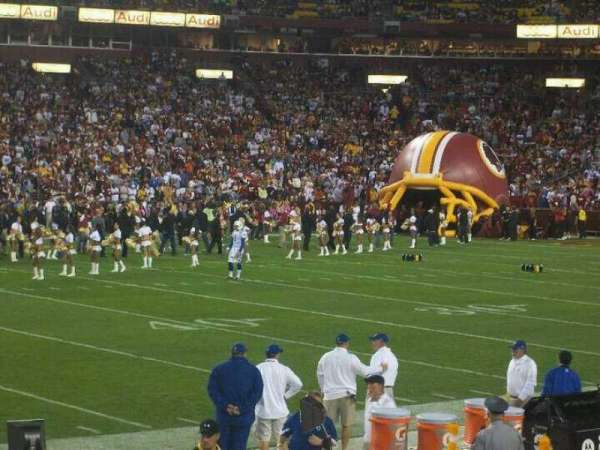 FedEx Field, section: 122, row: 2, seat: 6