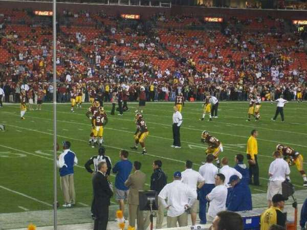 FedEx Field, section: 122, row: 2, seat: 16