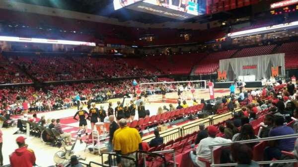 Xfinity Center Maryland Section 125 Row 3 Seat