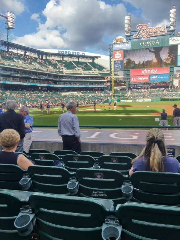 Comerica Park, section: 121, row: 12, seat: 8